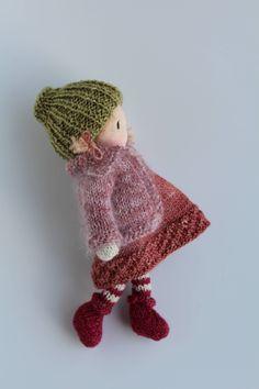 Knit Crochet, Crochet Hats, Crochet Appliques, Waldorf Dolls, Fairy Dolls, Knitted Dolls, Handmade Dolls, Knitting Designs, Doll Patterns