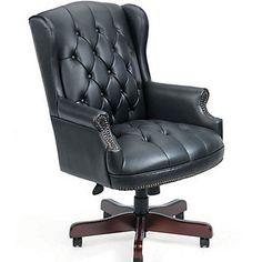 Widmore Queen Anne Vinyl Executive Chair, B800