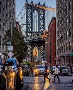 Washington Street Brooklyn, New York 💕 Manhattan Bridge, Brooklyn Bridge, New York Street, New York City, Ciudad New York, Photo New York, Autumn In New York, Washington Street, Brooklyn New York