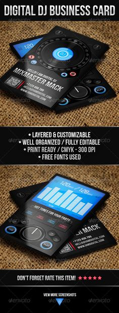 77 best dj business cards images on pinterest dj business cards buy digital dj business card by vinyljunkie on graphicriver professional and unique digital dj business card psd template also may be used as a music wajeb Images