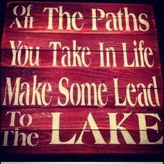 Make more paths to the lake!