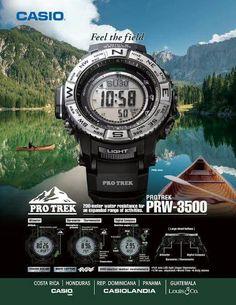 #Casio #ProTrek PRW 3500 - gdyby kogoś naszło na przykład na ekstremalny wypad w całkowitą dzicz ;)  http://www.brawat.pl/zegarek-meski-casio-prw-3500-1d