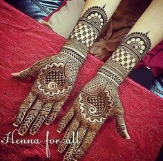 Latest Bridal Mehndi Designs for Full Hands - Craft Community