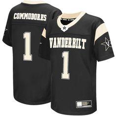 #1 Vanderbilt Commodores Colosseum Youth Football Jersey - Black - $49.99