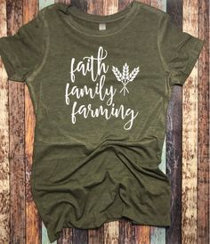 Seller:MaiberrieDesignsCustomer out of 5 stars Tee Shirts, Tees, Funny Shirts, Custom Clothes, Custom Shirts, T Shirts With Sayings, Shirt Ideas, Shirt Designs, Farm Life