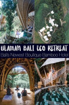 Ulaman Bali Eco Retreat: Bali's newest boutique bamboo hotel with a focus on wellness, cuisine, and nature. Situated within 30 minutes of popular tourist centers Canggu and Ubud, Ulaman Bali is the ideal getaway with amazing food and drink, lush nature, and wellness. #hotels #bali #boutiquehotel #ecohotel #ecoresort #retreat