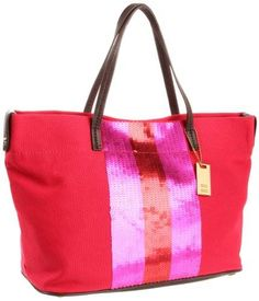 Make your casual something the crowd will adore. Tommy Hilfiger Th Sparkle Ew Tango Red Tote Handbag