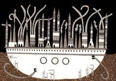 Italo Calvino's 'Invisible Cities', Illustrated,Despina. Image © Karina Puente Frantzen