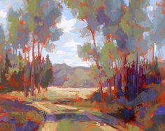 """""""Somehow, Beloved Breath"""" by David Mensing   Uncommon beauty in a typical aspen stand in western Montana   Oil on canvas."""