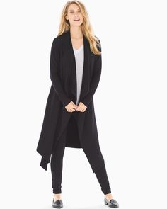 This tunic-length wrap is perfectly paired over leggings and your favorite layering top for a chic look with your favorite boots. Ponte Pants, All I Ever Wanted, Fashion Essentials, Style Essentials, Layered Tops, Easy Wear, Look Fashion, Duster Coat, Chic