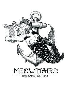#punioland #cat #funny #marmaid #purrmaid #meowmaird #summer
