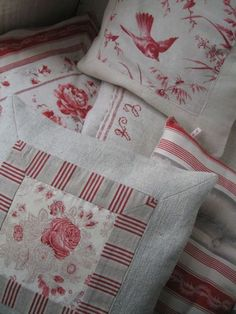 So cute. Could do this using some of my vintage french linens.