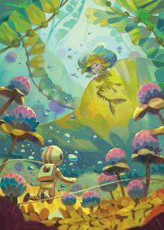 -- Share via Artstation iOS App, Artstation © 201 Children's Book Illustration, Character Illustration, Watercolor Illustration, Digital Illustration, Illustration Fashion, Portrait Illustration, Fashion Illustrations, Storyboard, Underwater Art