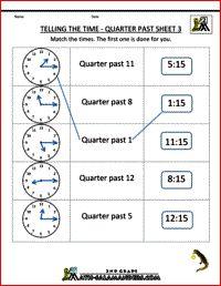 clock problems for nd grade  nd grade math worksheets telling the  nd grade worksheets telling the time quarter past