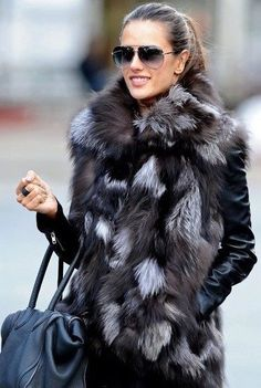 Skaist-Taylor Black Fur Vest Outfit - Hair and glasses for casual