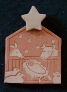 clay nativity tile