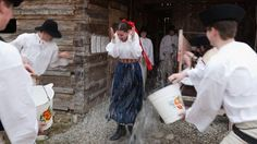 """""""Oblievačka"""" (water pouring) Easter Monday, Easter Traditions, Eastern Europe, Czech Republic, Folk, Old Things, Bohemian, Traditional, Water"""