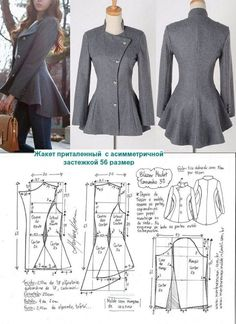 Aswathy priya s 452 media analytics – Artofit Riding jacket pattern with flared bottom Love the flair! Coat Patterns, Dress Sewing Patterns, Clothing Patterns, Skirt Patterns, Fashion Sewing, Diy Fashion, Ideias Fashion, Blazer Pattern, Jacket Pattern