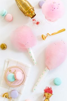 How To Make Spiked Cotton Candy Source: Sugar And Cloth Where food lovers unite. Food Styling, Candy Floss, Festa Party, Cotton Candy, Macarons, Party Time, Party Fun, Sweet Treats, Pink Treats