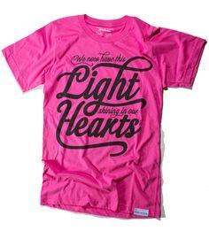Faith Filled Fashion! Lights/Hearts Pink Tee @ walk in love.