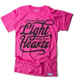 Faith Filled Fashion! Lights/Hearts Pink Tee @ walk in love.