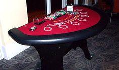 Full size blackjack poker table