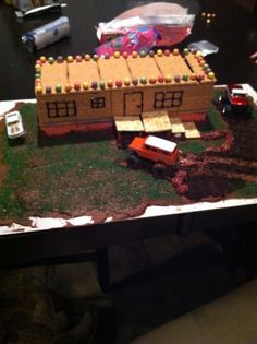 Redneck christmas gingerbread trailer house