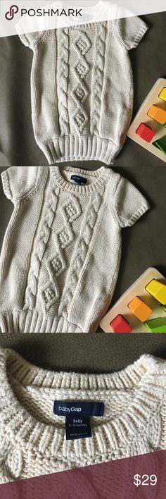 Baby gap sweater dress Baby gap sweater dress perfect for fall size 6-12 months. Never worn. Accepting all reasonable offers. Would love to bundle. GAP Dresses