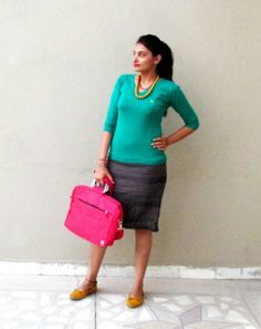 Outfit of the Day, Colourful Work Look, Zara, UCB,