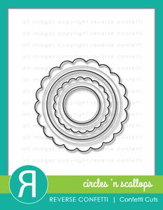 """Circles 'n Scallops is an awesome stand-alone Confetti Cuts die set that can be used over and over on a variety of projects. This is a great """"basics"""" die set to have and pair with any of our stamps and other Confetti Cuts dies. Each of the circles also contains an embossed circle edge for greater detail and texture."""