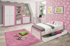 Stylish Bedrooms For Teenage Girls Teenage Girl Bedrooms, Stylish Bedroom, Mobile Marketing, Toddler Bed, Furniture, Home Decor, Child Bed, Decoration Home, Room Decor