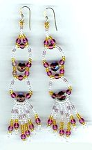 Exotica Earrings Pattern by Charlotte Holley - Beaded Legends by Chalaedra at Bead-Patterns.com. Lots of free beading patterns and tutorials are available!