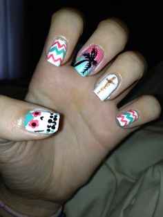 I personally wouldn't put the owl that's on the thumb nail but you may so other then that this mix and match nail art is very cut and simple...