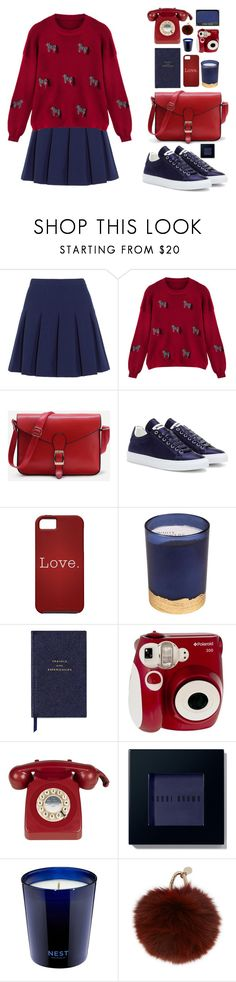 """Без названия #82"" by sinyukovayulya ❤ liked on Polyvore featuring Diane Von Furstenberg, WithChic, Jil Sander, Paddywax, Smythson, Polaroid, Bobbi Brown Cosmetics, Nest and Yves Salomon"