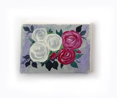 Original painting mini canvas painting by artist Helen Garfield. Acrylic Painting Canvas, Canvas Artwork, Acrylic Flowers, Mini Canvas, New Baby Gifts, Art Blog, New Baby Products, Original Paintings, My Etsy Shop