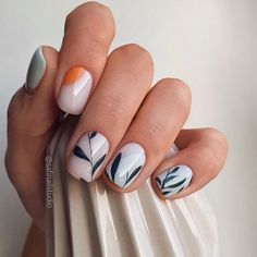 White nails are the standard for girls in summer. If you like white nails, the more than 80 white nail design ideas here may surprise you this summer. Cute Nails, Pretty Nails, My Nails, Dark Nails, Minimalist Nails, Nagellack Trends, Manicure E Pedicure, Stylish Nails, Nagel Gel