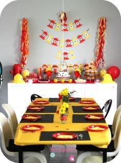 D co table pompier anniversaire pompier pinterest - Deco anniversaire pompier ...