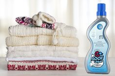 Get your winter laundry smelling like silky floral balsamic by using our Soof wool washing detergent