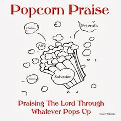 Children's Gems In My Treasure Box: Popcorn Praise Lesson - Introduction And Banner - Restored Kids Church Lessons, Bible Lessons For Kids, Sunday School Lessons, Sunday School Crafts, Youth Group Lessons, Youth Groups, Church Activities, Bible Activities, Preschool Bible