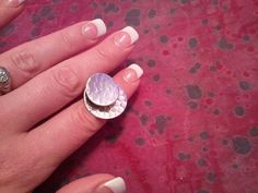 Vintage Hand Made Hammered Sterling Silver Ring by MyYiayiaHadThat, $40.00
