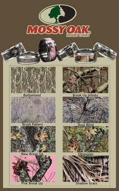 We have Mossy Oak Camouflage Wedding Bands! #hudson_poole_jewelers