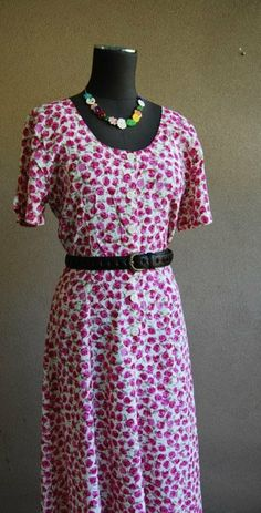 1940s 1980s Floral tea dress by Rustyeggwhisk on Etsy, $40.00