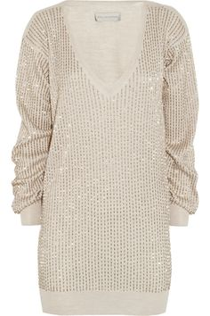 Stella McCartney - Beaded wool, silk and cashmere-blend sweater