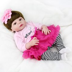 104.49$  Watch now - http://aliv3g.shopchina.info/go.php?t=32807293979 - Full Body Silicone Reborn Baby Girl Dolls Reborn Reborn Can Bath  Bebe Reborn Babies Dolls for Children Juguetes Bonecas 104.49$ #magazineonline