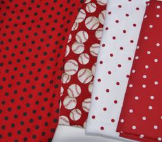 Baby Burp Cloths - Set of 2 Quilted Boutique Baby Burp Rags  - You Choose - Baseball, Red, White, Polka dots by PurpleLadybugGifts on Etsy