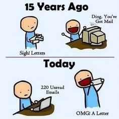 How Times Have Changed! ~~ Ahh, Yes, The Days When I Was Giddy To Receive Emails From You Via Prodigy. A System In Which We Didn't Even Get To Pick Our Own Email Addresses. Pretty Sure I Still Have Those Letters Printed Out Somewhere ... LOL.