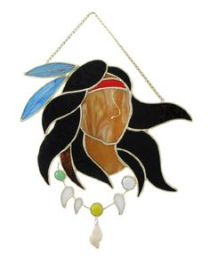 Native American Warrior Wall Plaque Suncatcher by Things2Die4.