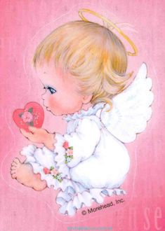 Illustrations, Illustration Art, Bible Songs For Kids, I Believe In Angels, Cute Baby Dolls, Angel Pictures, Tatty Teddy, Guardian Angels, Vintage Valentines