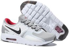 san francisco c2b05 df75d 2015 Latest Nike Air Max Zero QS 87 Retro Mens Running Shoes White Gray Red  Online