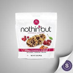 Soft, chewy, and with that right amount of tang, our Cherry Cranberry Almond granola cookies deliver a mouthful of flavor in each bite. Perfect with a cup of coffee or added into your favorite yogurt, this Nothin' But cookie is a perfectly balanced bite of all-natural goodness.